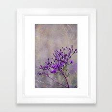 Purple Wildflowers Framed Art Print