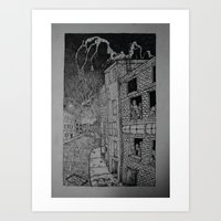 All that was left is up. Art Print