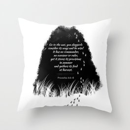 Go to the ant Throw Pillow