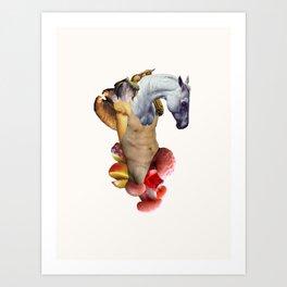 Horse Martyr Art Print