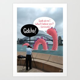 The secret of Nessie Art Print