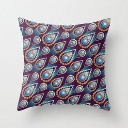 Turkish Blue Throw Pillow