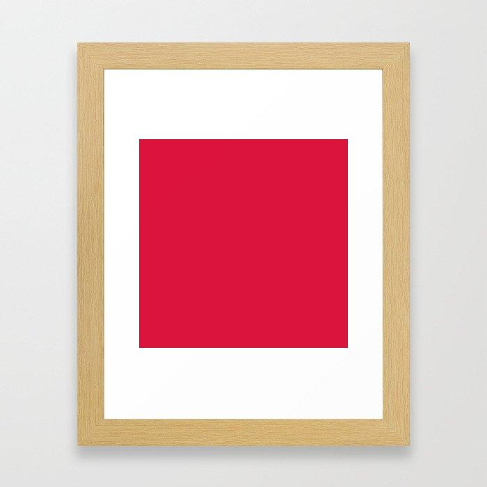 (Crimson) Framed Art Print
