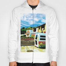 Bright blue sky, bright colors. Hoody