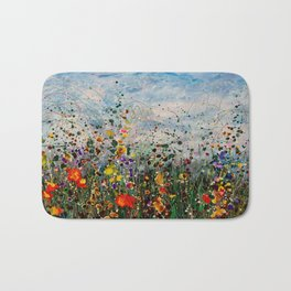 Autumn Maple Leaves On The Grass Bath Mat