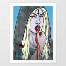 lip touch Art Print