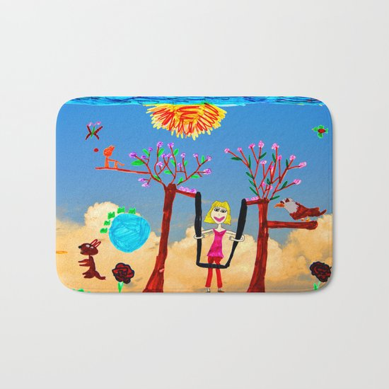 Dreaming | Playground | Up to the Clouds Bath Mat