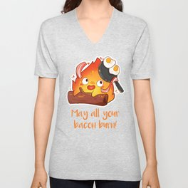 May All Your Bacon Burn Unisex V-Neck