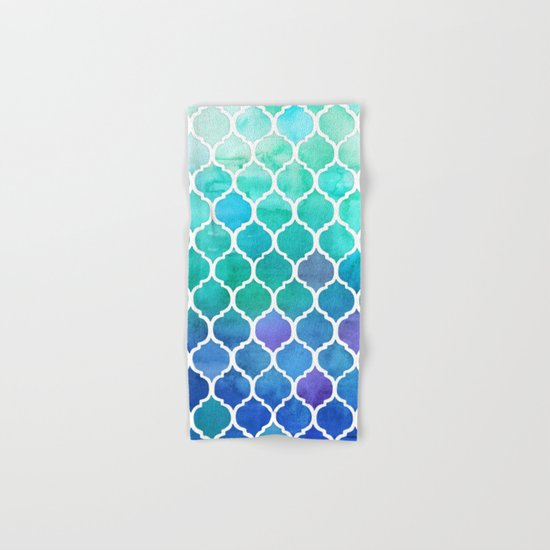 Emerald & Blue Marrakech Meander Hand & Bath Towel