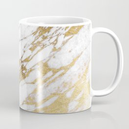 Chic Elegant White and Gold Marble Pattern Coffee Mug