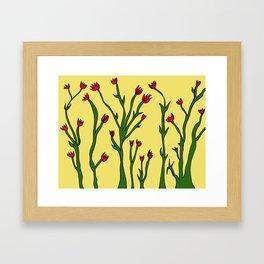 Long flowers Framed Art Print