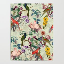 Floral and Birds VIII Poster