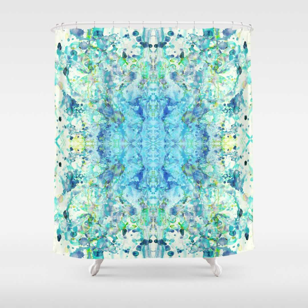Royal Shower Curtains Society - Mint green shower curtain