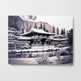 Pure Zen of Byodo Temple Metal Print