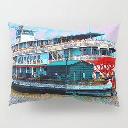 Natchez Riverboat New Orleans Pillow Sham
