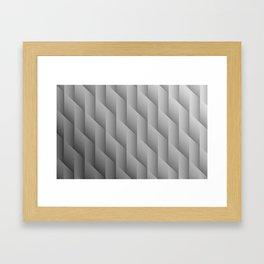 Gradient Gray Diamonds Geometric Shapes Framed Art Print