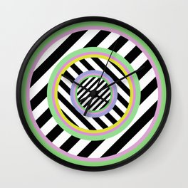 Circles, stripes and pastel colours Wall Clock