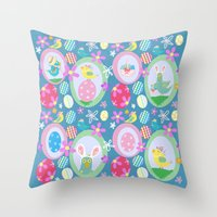 easter Throw Pillows featuring Easter  by Art Tree Designs