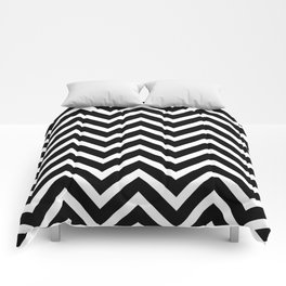 Black & White Chevron Stripes Comforters