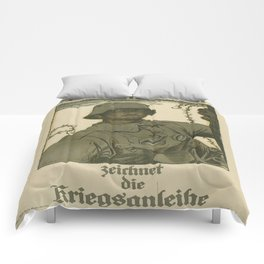 Vintage poster - German propaganda Comforters