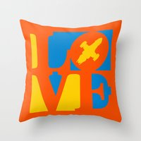 KEEPS HER IN THE AIR Throw Pillow