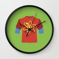bazinga Wall Clocks featuring Bazinga! by dudsbessa
