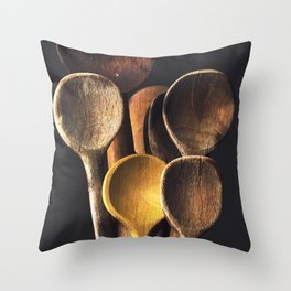 Wooden spoons Throw Pillow