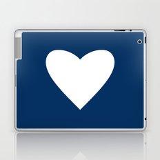 Navy Blue Heart Laptop & iPad Skin