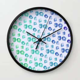 Nerd Dice Skin Wall Clock