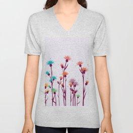 Cute watercolor flowers Unisex V-Neck