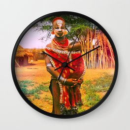 """""""Happy Are Those Who Take Life Day By Day"""" Wall Clock"""