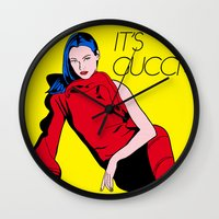gucci Wall Clocks featuring Gucci! by Alli Vanes