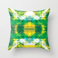 manhattan Throw Pillows featuring Manhattan by Brandon Paul Martinez