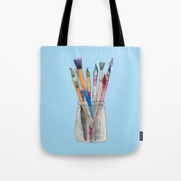 Paint Brushes Tote Bag