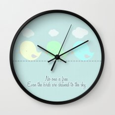 no one is free Wall Clock