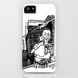 A Tree Growing Up In Brooklyn. iPhone Case