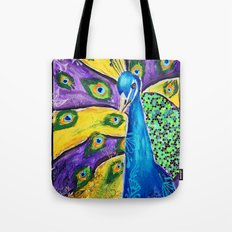 Gilded Peacock Tote Bag