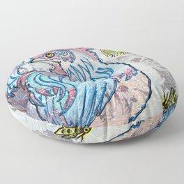 Rooster Road Floor Pillow