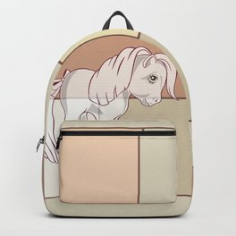 g1 my little pony abstract Backpack