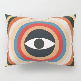Third Eye Retro Colors Circle Pillow Sham