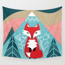Winter Fox Wall Tapestry