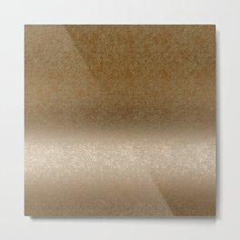 Golden gradient ornament background Metal Print