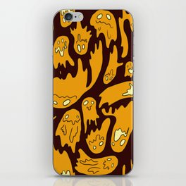 Orange Ghosties iPhone Skin
