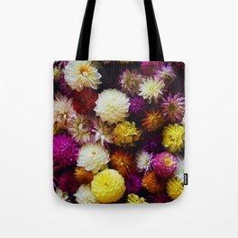 Pop Color Flowers (Color) Tote Bag