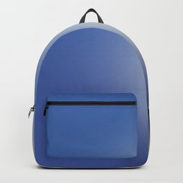 Gradient in shades of blue Backpack