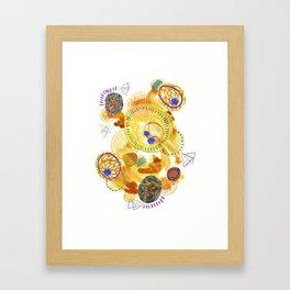 Dandelion Circle Collage Framed Art Print