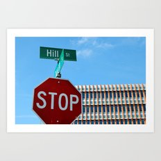 Hill St.     Ann Arbor, Michigan Art Print