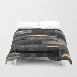 Urban Black & Gold Duvet Cover