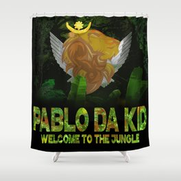 """Pablo Da Kid"" 1st Album Release Cover Art 2.0 Shower Curtain"