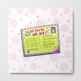 Sass Card Metal Print